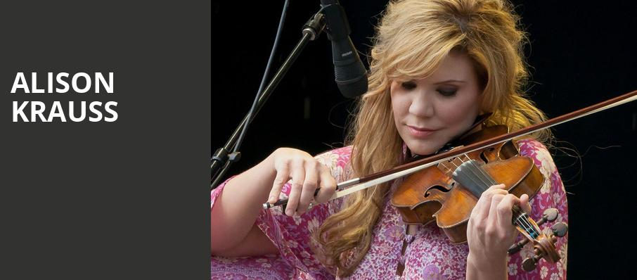 Alison Krauss, Robinson Center Performance Hall, Little Rock